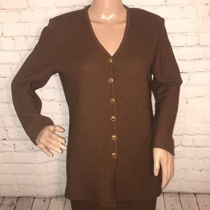 St John Collection by Marie Gray blazer brown 4